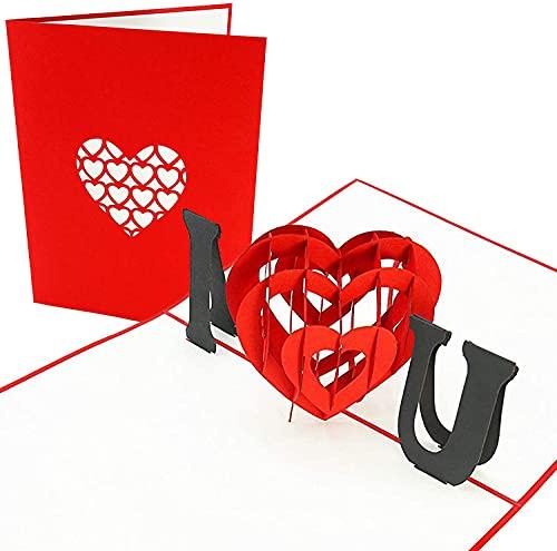 PopLife Cards Te amo tarjeta emergente del corazón para todas las ocasiones, tarjeta de felicitación del día de la madre, feliz cumpleaños, aniversario, compromiso, san valentín
