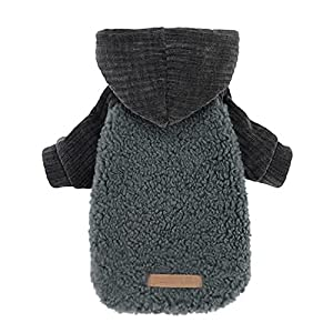 Fitwarm Velvet Thermal Dog Coat Puppy Winter Clothes Pet Jacket Cat Hoodie Outfits Pullover Doggie Sweatshirt XX-Large