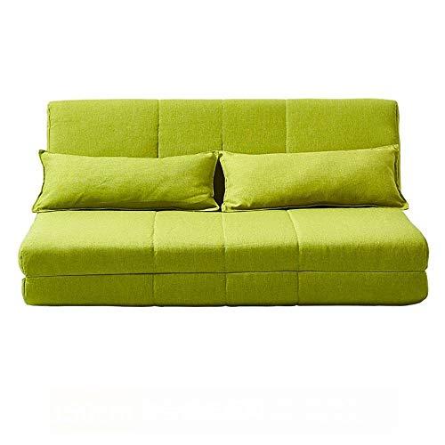 Wtbew-U Sillas de meditación, sofá Cama Plegable Lavado Lavable Sala de Estar Sofá Cama Multiuso de Doble Uso 1.5 M (Color : Green)