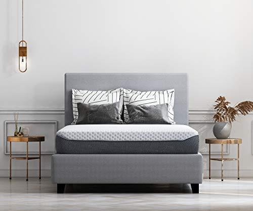 Ashley Furniture Signature Design  10 Inch Chime Elite Mattress  Queen Size  White amp Blue