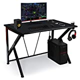 Gaming Desk Computer Table 45.66' Large E-Sports Home Computer Desk with Multi-Function Socket Large Carbon Fiber Surface,Heavy Duty Construction for Home or Office Workstation Game Table
