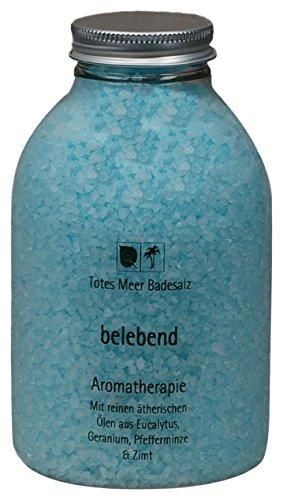 Sel de bain Totes Meer Naturel Belebend 630 g parfumée aux huiles essentielles d'eucalyptus, géranium, menthe poivrée et cannelle