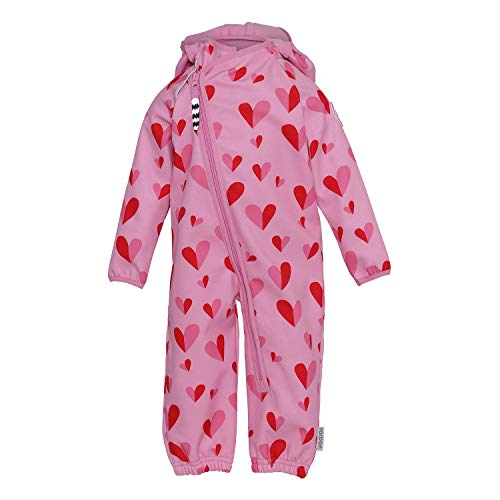 Racoon Baby-Girls Softshell Suit, Double Heart, 98