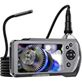Teslong Industrial Endoscope Camera, 0.21' Waterproof Borescope Inspection Camera with Upgraded 4.5' IPS Monitor, 9.8ft Gooseneck Snake Camera with LED Lights-32GB MicroSD Card-2500mAh Battery-ToolBox