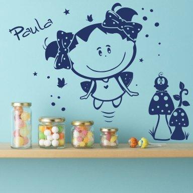 Livingstyle & Wanddesign Wandtattoo Wandaufkleber Paula Sonnenschein und Otto (80 cm x 68 cm)