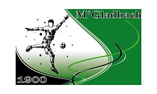 Gladbach Fahne - 1900 mit Fußballspieler (F76) - 90x150cm