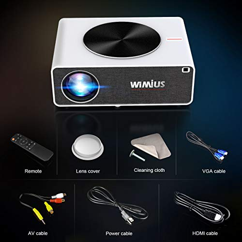 4K 5G WiFi Projector, WiMiUS Upgrade K3 Video Projector 340 ansi lumens Native 1920x1080 LED Projector Support 4k 500