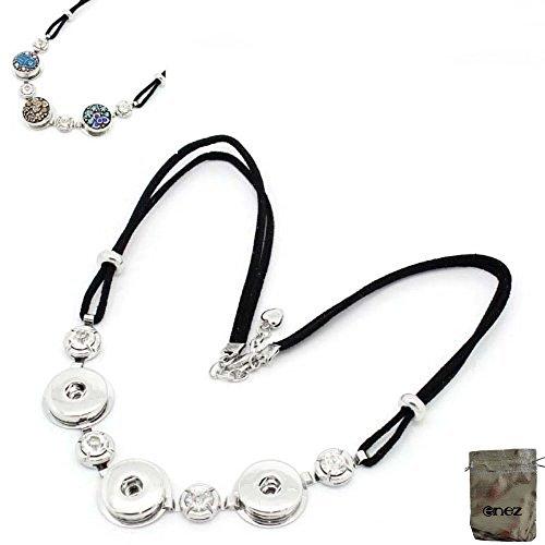 Enez Halskette Chunks Button Druckknopf Clicks Bead Anhänger Länge 52 cm + Geschenkbeutel I002