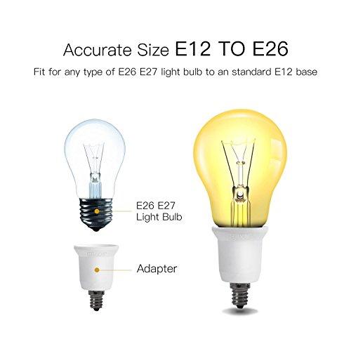 JACKYLED 3-Pack E12 to E26 E27 Adapter Chandelier Light Socket E12 to Medium Socket E26 E27 Converter Bulb Base Adapter Converter