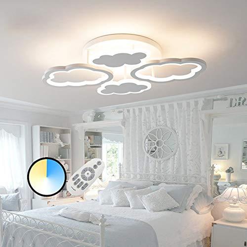 HIL Creative Cloud Kinderzimmer LED Deckenleuchte, Jungen Und Mädchen Prinzessin Kinderzimmer Schlafzimmer Beleuchtung Kindergarten Cartoon Beleuchtung,Coollight