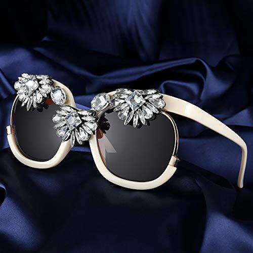 Moda Gafas De Sol para Mujer Diseño De Marca Gafas De Sol Cuadradas con Montura Grande con Diamantes De Lujo Gafas De Sol para Mujer Tonos De Moda para Mujer Gafas Beige