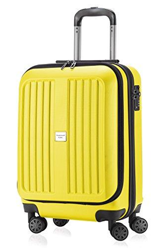 Maleta rígida de viaje amarilla