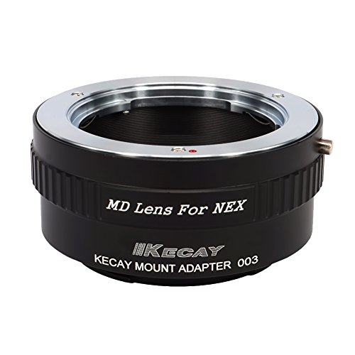 KECAY Adaptador para Adaptar Lentes de Minolta MD MC Mount a Cámaras Sony NEX E-Monte NEX3 NEX3C NEX5 NEX5C NEX5N NEX5R NEX6 NEX7 NEXF3 VG10 VG20 - Adaptador Lentes Minolta MD para Sony NEX MD-NEX