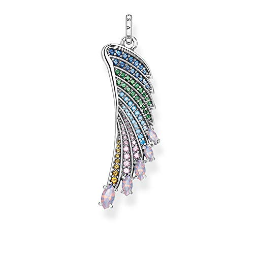 THOMAS SABO Anhänger Bunter Kolibri Flügel Silber, PE876-347-7, 4.8, Mehrfarbig