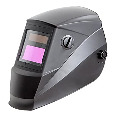 Antra AH6-260-0000 Solar Power Auto Darkening Welding Helmet with Wide Shade Range 4/5-9/9-13 with Grinding Feature Extra lens covers Good for TIG MIG MMA Plasma