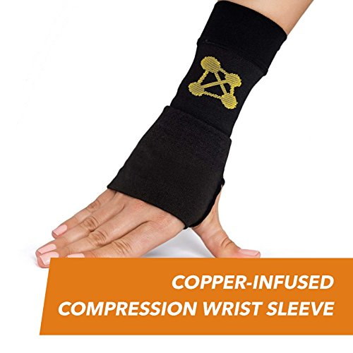✨ UNLIKE OUR COMPETITORS, our Compression Wrist Sleeve, Copper-Infused High-Performance Design alleviates pain caused by carpal tunnel, and are more comfortable to wear. They contain REAL COPPER IONS, meaning that the more you wear them, the faster t...
