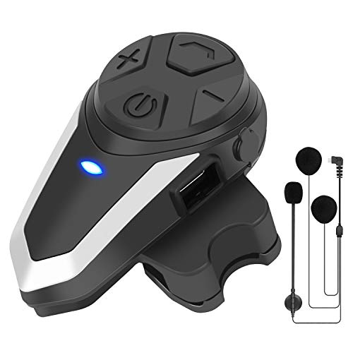 1X BT-S3 Intercomunicador de Moto, 1000 Auricular Casco Moto Bluetooth Manos Libres Intercom Comunicadores para Moto