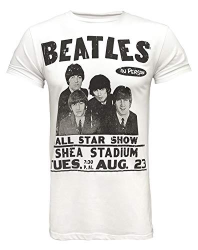 Amplified Beatles Shea Stadium T-Shirt pour Homme Blanc