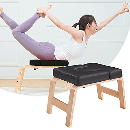 EnweOil Soporte De Silla De Yoga para Inversión De Forma Segura Y Fácil Soporte De Cabeza De Yoga Forma De Banco Cuerpo Y Alivia La Fatiga para Practicar Soporte De Cabeza Entrenamiento De Fuerza