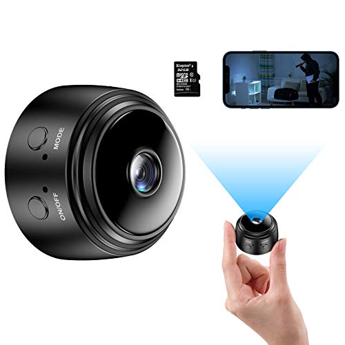 Mini Camera with 32G SD Card, Wireless WiFi Small Camera 1080P HD Home Security Surveillance Cameras with Night Vision Motion Detection, Tiny Cameras for Indoor/Outdoor Using. Buy it now for 35.99