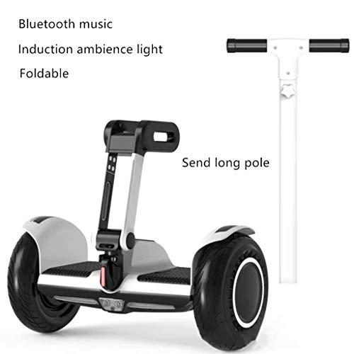 Xinxie Eléctrico Auto Inteligente Equilibrio Moto Conducir vehículos de Dos Ruedas eléctrico Adulto de Coche de Coches y Bicicletas en Paralelo Deriva de Auto-Equilibrio Inteligente Scooters,Blanco