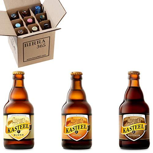 Caja degustación 9 cervezas belgas seleccionadas Kasteel. Cervezas especiales elaboradas por la prestigiosa cervecera Kasteel.
