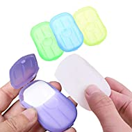 Wash Hand Soap Paper,portable soap sheets,portable soap strips,Disposable and Dissolving Paper Soap Travelling Paper Soap, 4 Boxes (80 Sheets) Portable Soap Sheets