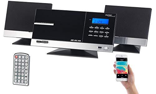 auvisio Stereoanlage Wandmontage: HiFi-Micro-Stereoanlage MSX-670.bt, Bluetooth/CD/USB/SD/Radio, 70 Watt (Vertikal Stereoanlage Wandmontage)