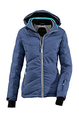 Killtec Damen Ocisa Skijacke In Daunenoptik Mit Abzippbarer Kapuze Und Schneefang, 10.000 Mm Wassersäule, Dunkelnavy, 46