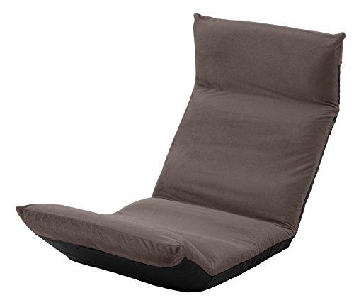 セルタン 日本製 高反発 座椅子 和楽の雲 LIGHT 上タイプ テクノブラウン 頭部脚部リクライニング A448上a-266BR