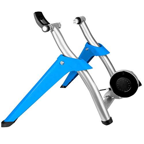ZXYY - Soporte para entrenador de bicicleta, soporte para entrenador interior para bicicleta de montaña (dimensiones:, azul