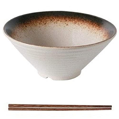 Japanese Ceramic Ramen Bowls, Creative Soup Bowls With Chopsticks, 9 Inch Large Ramen Bowls, Dumpling Bowls, Cereal, Noodles (Color : E)