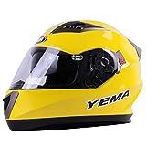 Casco moto integrale da uomo, casco moto off-road a doppia lente antiappannamento, cappucci di sicurezza da 53-60 cm