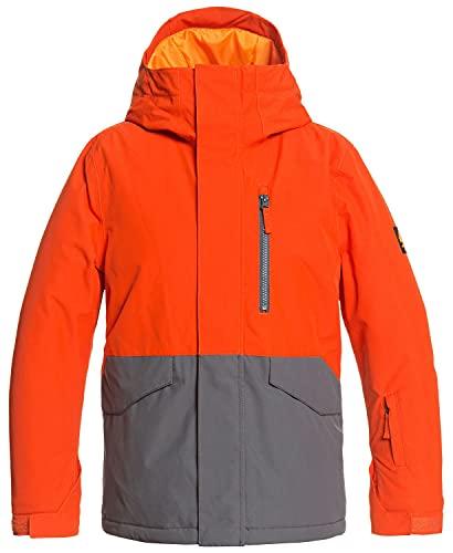 Quiksilver Kids Boy's Mission Solid Jacket (Big Kids) Pureed Pumpkin XL (16 Big Kids)
