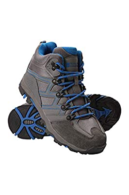 Mountain Warehouse Oscar Kids Hiking Boots - for Girls & Boys Blue Kids Shoe Size 5 US