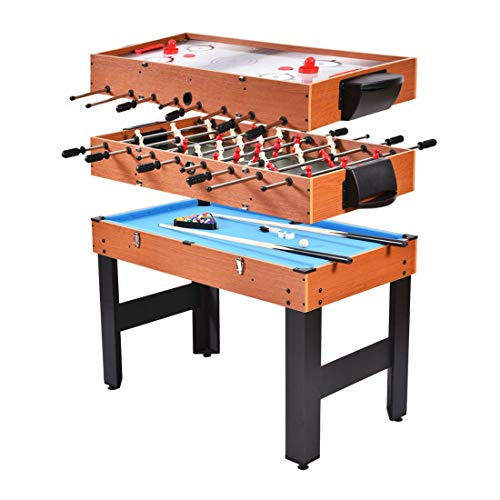 Why Choose 48 3-in-1 Multi Combo Game Table Foosball Soccer Billiards Pool Hockey for Kids