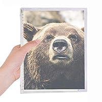 陸生生物が野生動物のクマ 硬質プラスチックルーズリーフノートノート