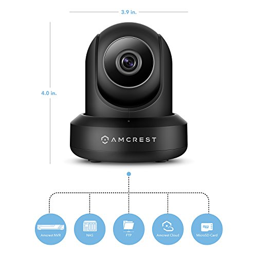 Amcrest WiFi Camera Indoor Pan/Tilt Surveillance Wireless IP Camera, Home Video Security System with IR Night Vision, Two-Way Talk, Motion Detection for Nanny Cam, Pet and Baby Monitor IPM-721B Black