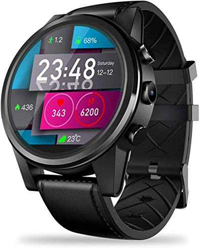 Reloj Inteligente Hombres 4G LTE 16Gb+1Gb 5Mp Cámara Pantalla Táctil Reloj Hombres GPS Sim WiFi Bt Deportes Reloj Inteligente Fácil de Usar Moda/Negro