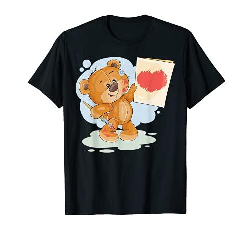 TEDDY BEAR T-Shirt I LOVE YOU Shirt Hugs Hearts Balloons Tee T-Shirt