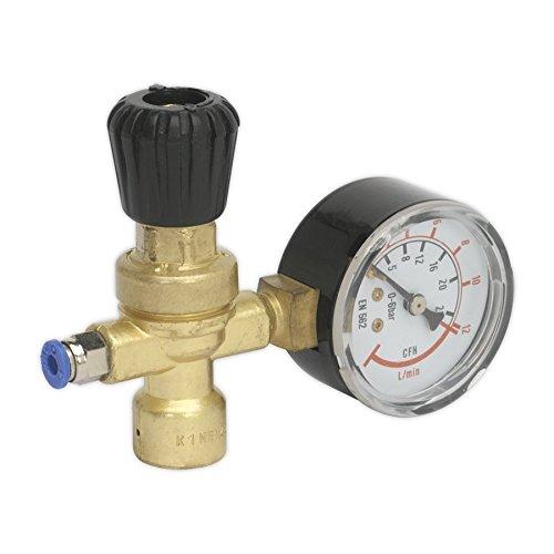 Sealey REG/MMG MIG - Regulador de gas (calibre 1, cilindro desechable)