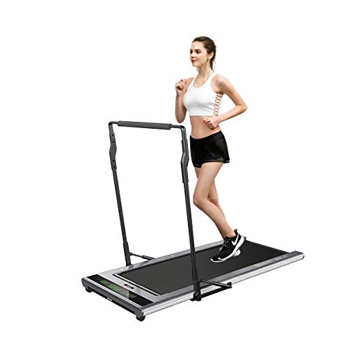 IPO Treadmill Smart Walk Slim Tread Folding Treadmill Intelligent Speed Control Compact Treadmill Under Desk (Gray)