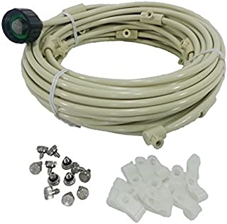 mistcooling - Patio Misting Kit - Pre- Assembled Misting System - Cools temperatures by up to 30 Degrees - Brass/Stainless Steel Misting Nozzles - for Patio, Pool and Play Areas ((60ft - 16 Nozzles))