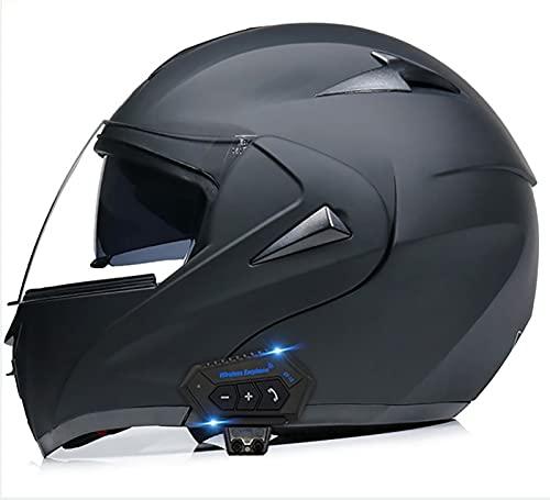 Bluetooth Integrado Modular Casco de la Motocicleta ECE 22.05 certificación Seguridad estándar-Cara Completa Racing Casco de la Moto General 1,S