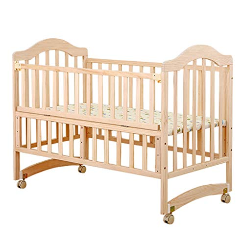 Amazing Deal YRC Solid Wood Environmentally Friendly Crib Newborn Cradle Bed, Can Be Spliced Bed/Con...