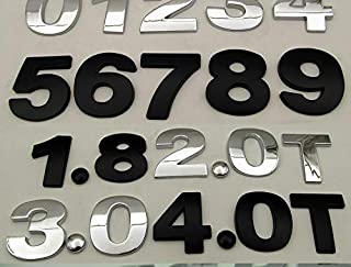 3D金属ステッカー 英語の車の装飾車のステッカー大型DIY身体改造ステッカー英数字新しい大きな金属 (Color : Black, Size : 9)