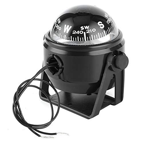 Brújula LED para barco, 12V LED Sea Marine Electrónica Brújula digital Montaje en tablero Empotrado Barco Yate Navegación Brújula ABS para vela