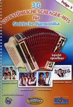 Musikverlag Michlbauer GmbH 30 VOLKSTUEMLICHE 1 Schlager Hits - arrangiert für Steirische Handharmonika - Diat. Handharmonika - mit CD [Noten/Sheetmusic]