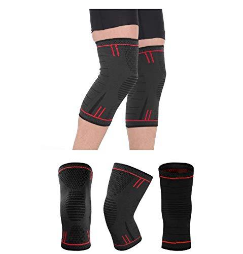 LEIGONG Knee Compression Sleeve Best Knee Brace for Men Women Knee Support for Biking Football Tennis Workout Climbing Exercise Work Yoga M