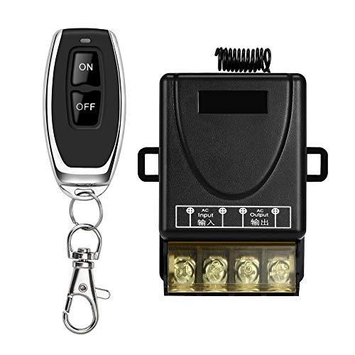KKmoon afstandsbedieningsschakelaar 433 MHz 3000 W AC 90V-264 V ontvanger zender set voor controlelampje ventilatielamp kantoor landbouw van LED-productie 1